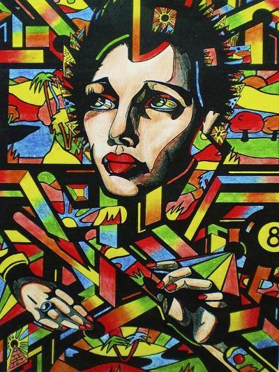 Eightball-Abstract Graffiti-Giclee Print