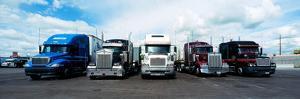 Eighteen Wheeler Vehicles on the Road
