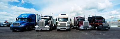 Eighteen Wheeler Vehicles on the Road--Photographic Print