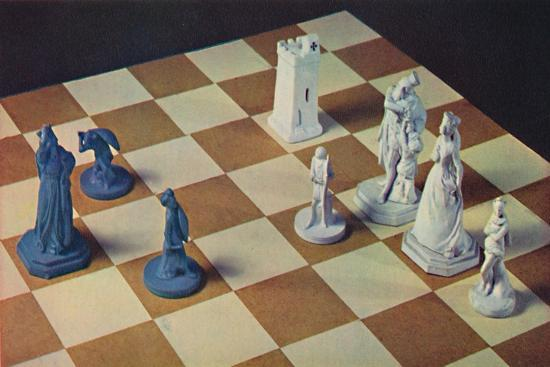 'Eighteenth-Century Chessmen in Blue and White Stoneware', 1948-Unknown-Giclee Print