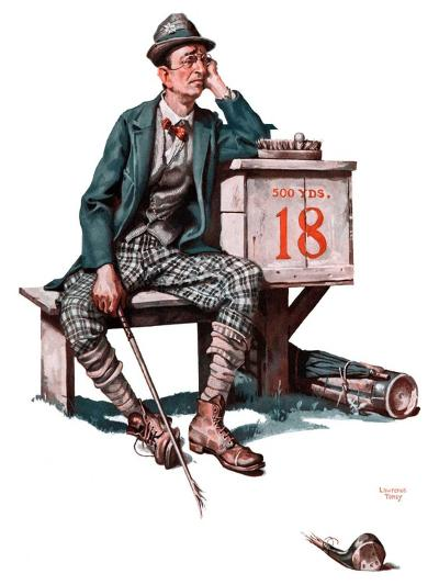 """Eighteenth Hole,""August 8, 1925-Lawrence Toney-Giclee Print"