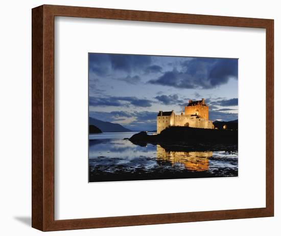 Eilean Donan at Dusk-Izzet Keribar-Framed Photographic Print