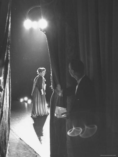 Eileen Farrell Talking Bow After Her Debut Performance in 'Alcestis' at Met-Peter Stackpole-Premium Photographic Print