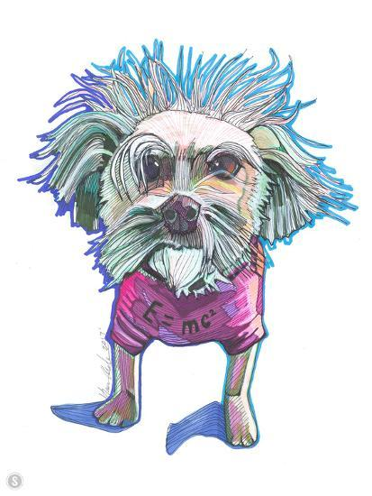 Einstein Dog Bert-Solveig Studio-Art Print
