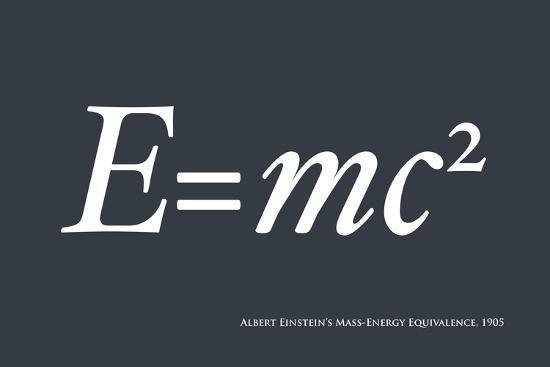 Einstein E equals mc2-Michael Tompsett-Art Print