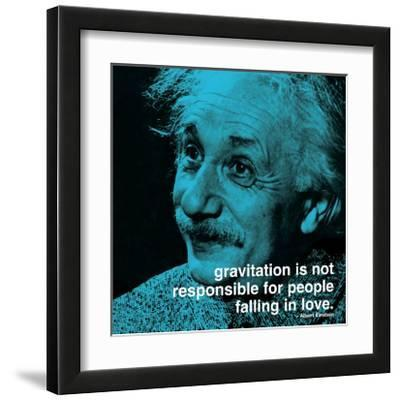 Einstein: Love--Framed Art Print