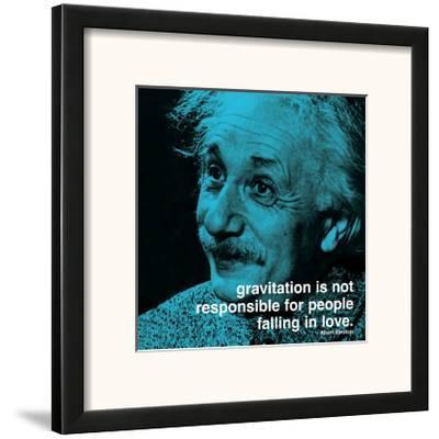 Einstein: Love--Framed Art Print
