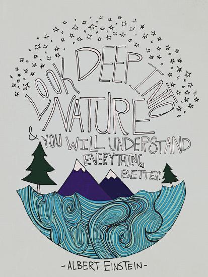 Einstein Nature-Leah Flores-Giclee Print