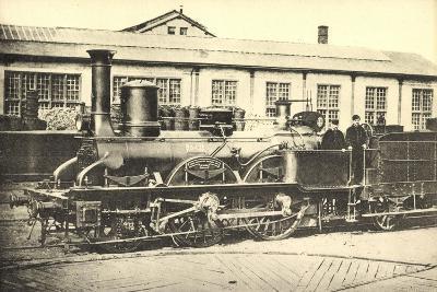 Eisenbahnen, Frankreich, Dampflok, Machine 842--Giclee Print