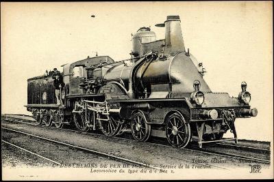 Eisenbahnen, Frankreich, Dampflokomotive Bec, Tender--Giclee Print