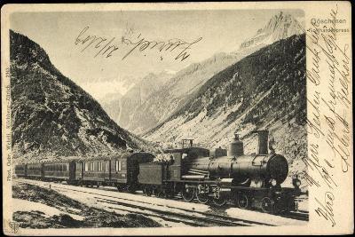 Eisenbahnen, Schweiz, Göschenen, Gotthardexpress,Lok--Giclee Print