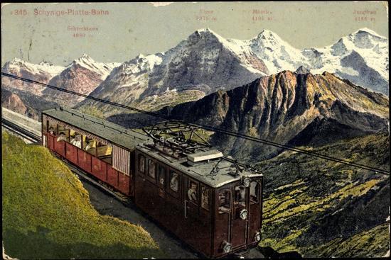 Eisenbahnen, Schweiz, Schynige Platte Bahn, Bergbahn--Giclee Print