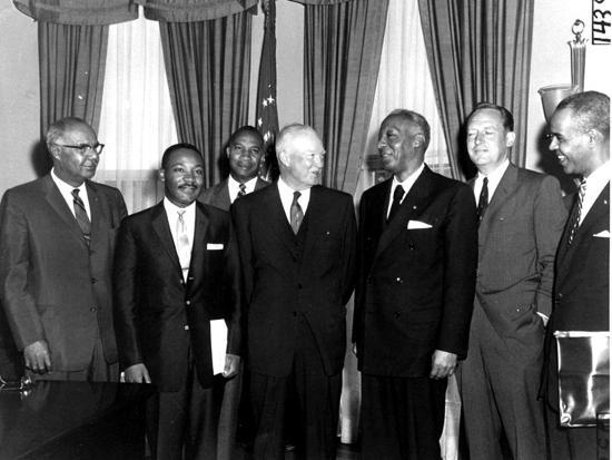Image result for eisenhower with black civil rights leaders