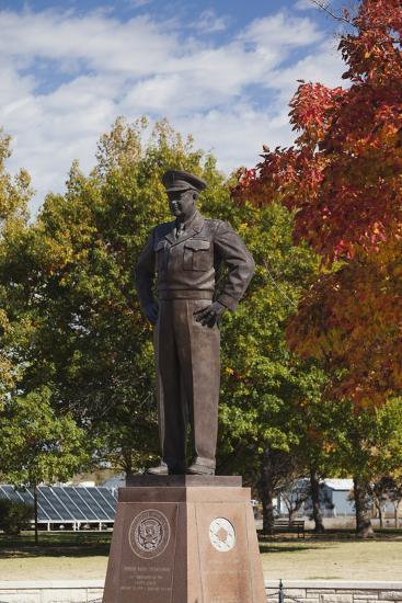 Eisenhower Statue, Abilene, Kansas, USA-Walter Bibikow-Photographic Print