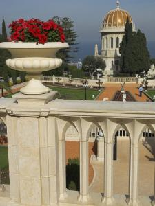 Bahai Gardens and Shrine, with Temple in the Background, Haifa, Israel, Middle East by Eitan Simanor