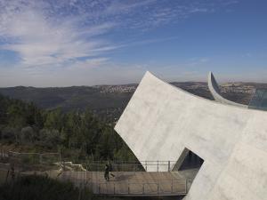 Exit Towards the Jerusalem Hills, New Wing of the Holocaust Museum, Yad Vashem, Jerusalem by Eitan Simanor