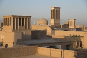 Old City Skyline with Bagdirs Windtowers, Yazd, Iran, Western Asia by Eitan Simanor