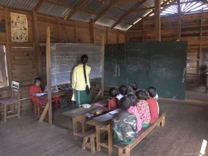 Pah Oh Minority Children in Local Village School, Pattap Poap Near Inle Lake, Shan State, Myanmar by Eitan Simanor