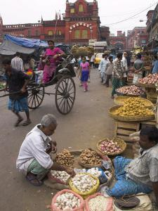 Street Stalls, New Market, West Bengal State, India by Eitan Simanor