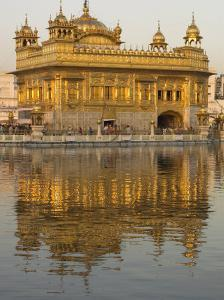 The Sikh Golden Temple Reflected in Pool, Amritsar, Punjab State, India by Eitan Simanor