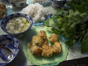 Traditional Spring Rolls Accompanied by Vegetable Soup, Nem Ran, Vietnam by Eitan Simanor