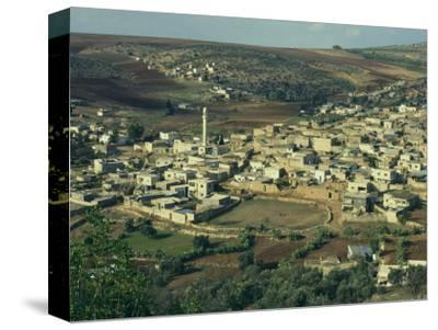 View from Above of Palestinian Village of Gilboa, Mount Gilboa, Palestinian Authority, Palestine