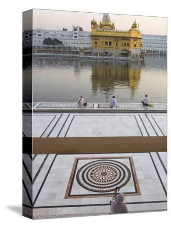 View from Entrance Gate of Holy Pool and Sikh Temple, Golden Temple, Amritsar, Punjab State, India