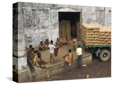 Warehouse Workers Having Rest Break at Carrit Moran & Company's Tea Warehouses at Kolkata Port