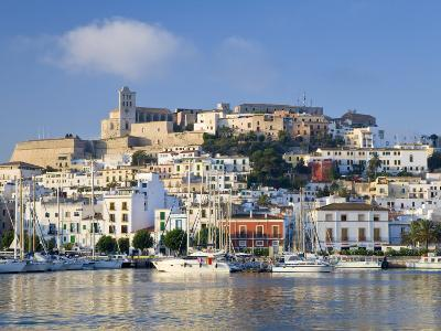 Eivissa or Ibiza Town and Harbour, Ibiza, Balearic Islands, Spain-Peter Adams-Photographic Print