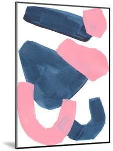 Navy Pink Abstract Shapes by Ejaaz Haniff