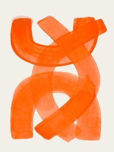 Orange Brush Strokes by Ejaaz Haniff