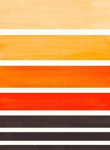 Orange Staggered Stripes by Ejaaz Haniff