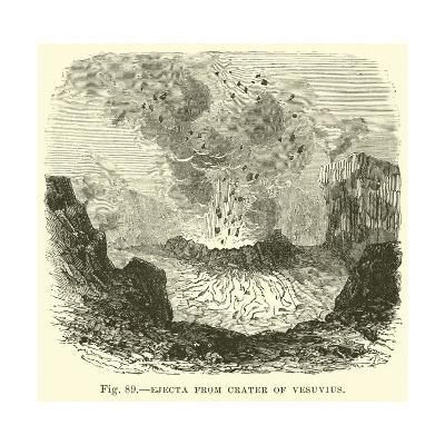 Ejecta from Crater of Vesuvius--Giclee Print