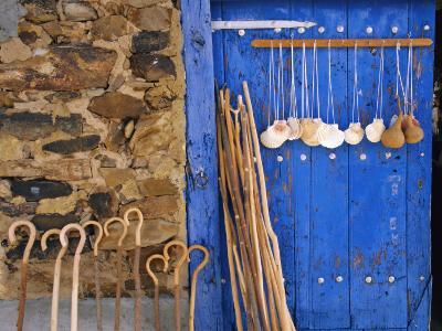 El Camino Pilgrimage to Santiago De Compostela, Scallop Shells and Walking Sticks, Galicia, Spain-Ken Gillham-Photographic Print