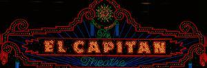 El Capitan Theatre Sign in Hollywood, California