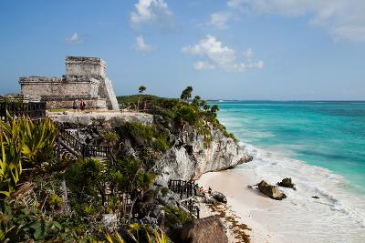 El Castillo at Tulum, Yucatan, Mexico, North America-John Alexander-Photographic Print