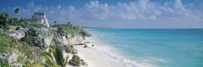 El Castillo, Quintana Roo Caribbean Sea, Tulum, Mexico--Photographic Print