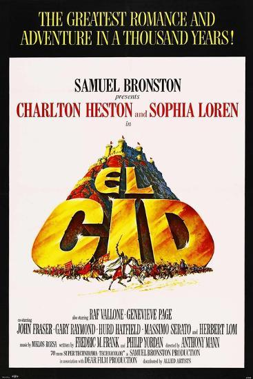 El Cid, 1961, Directed by Anthony Mann--Giclee Print
