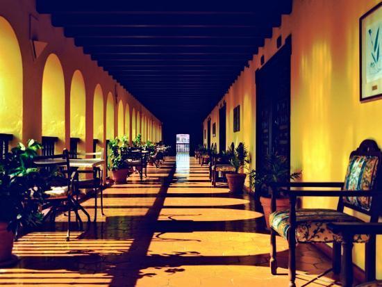 El Convento Hotel, Patio del Nispero, Courtyard, San Juan, Puerto Rico-Greg Johnston-Photographic Print
