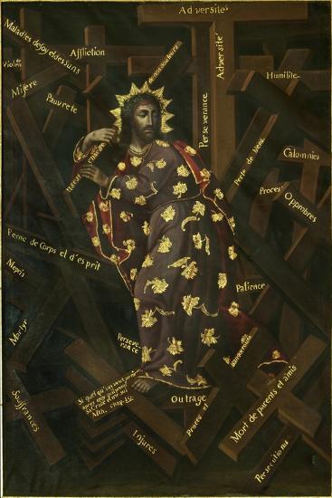 El Cristo De Las Cruces, Early 18th C-Francisco Moyen-Giclee Print