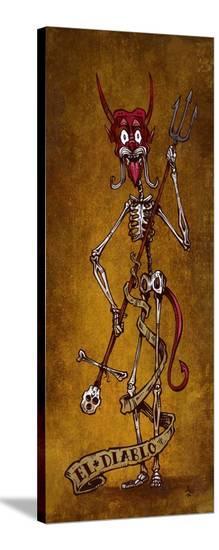 El Diablo-David Lozeau-Stretched Canvas Print