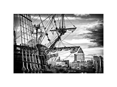 El Galeon, Authentic Replica of 17th Century Spanish Galleon at Pier 84, New York-Philippe Hugonnard-Photographic Print