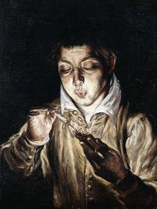 A Boy Lighting a Candle by El Greco