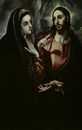 Christ Bids Farewell To His Mother by El Greco