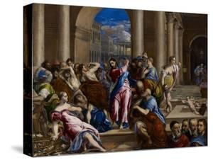 Christ Driving the Money Changers from the Temple, C.1570 by El Greco