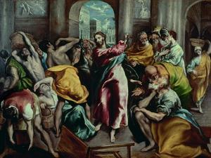 Christ Driving the Moneylenders from the Temple, 1600 by El Greco