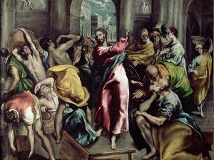 Christ Driving the Traders from the Temple, circa 1600 by El Greco