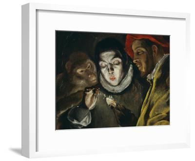 Fabula, Around 1600, a Boy Lights a Candle, as a Monkey and a Bearded Figure Watch