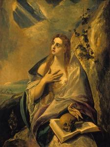 Magdalena Atoning for Her Sins, about 1580 by El Greco