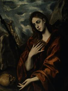 Mary Magdalene Repentant by El Greco